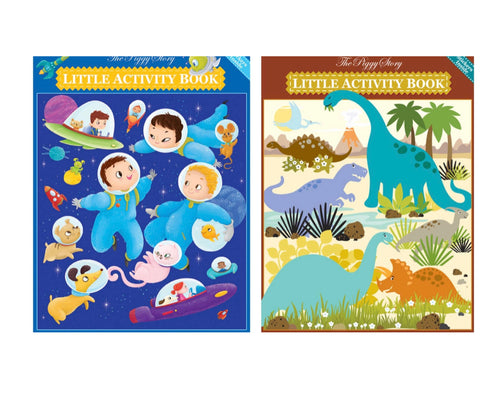 The Piggy Story Activity Book Set: Space & Dinosaurs