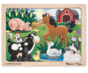 Melissa & Doug 12pc On the Farm Jigsaw Puzzle