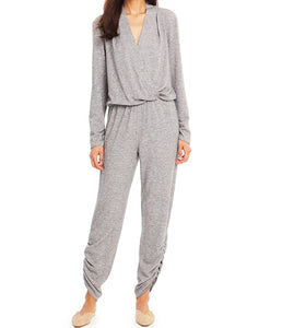 Amanda Uprichard Jadyn Light Grey Heather Jumpsuit