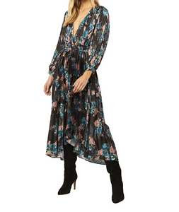 MISA Kirna Shadow Floral Dress