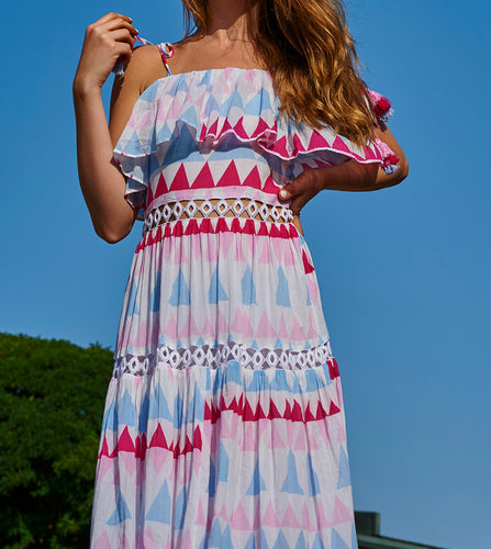 Place Nationale Le Ghessa Mosaic Maxi Sundress