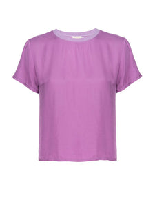 Nation LTD Marie Ultraviolet Sateen Top
