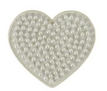 Stoney Clover Lane Cozy Pearl Heart Patch