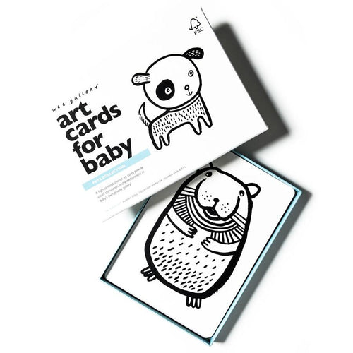 wee gallery Pet Art Cards for Baby
