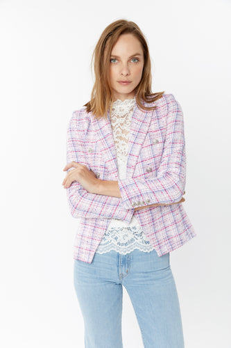 Generation Love Alexa Multi Pink Tweed Blazer