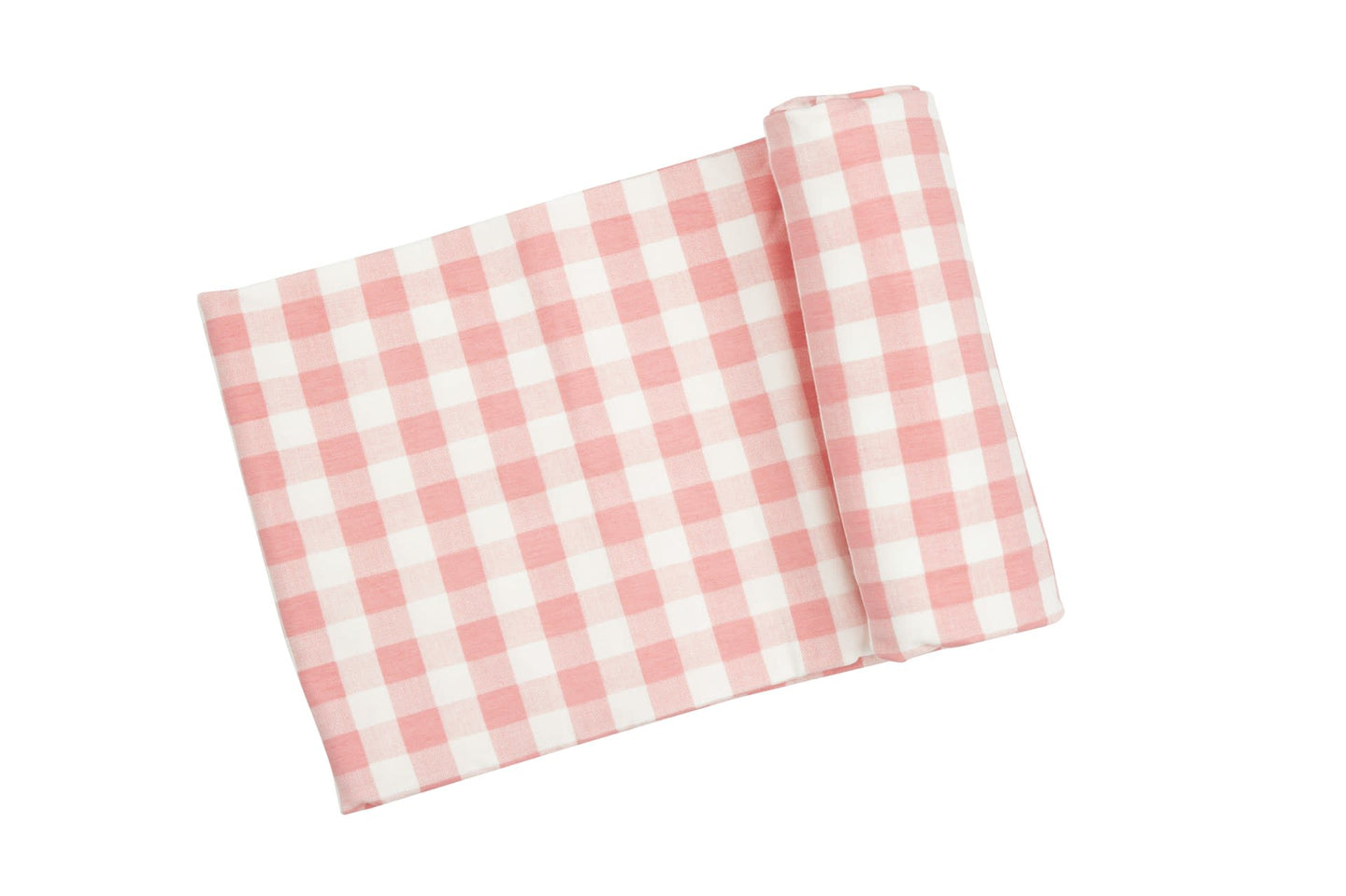 Angel Dear Gingham Pink Swaddle Blanket