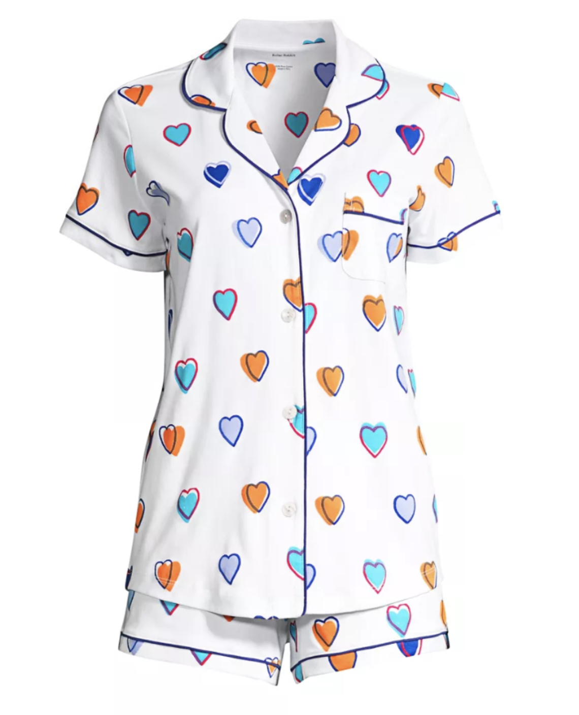 Roller Rabbit Big Hearts Multi SS Pajamas