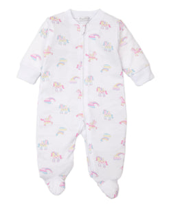 kissy kissy Unicorn Utopia Zip Footie
