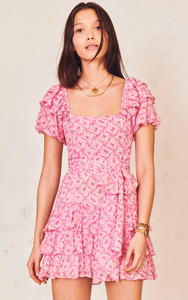 LoveShackFancy Kimbra Pink Bonnet Dress