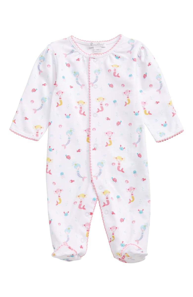 kissy kissy Mermaid Print Footie