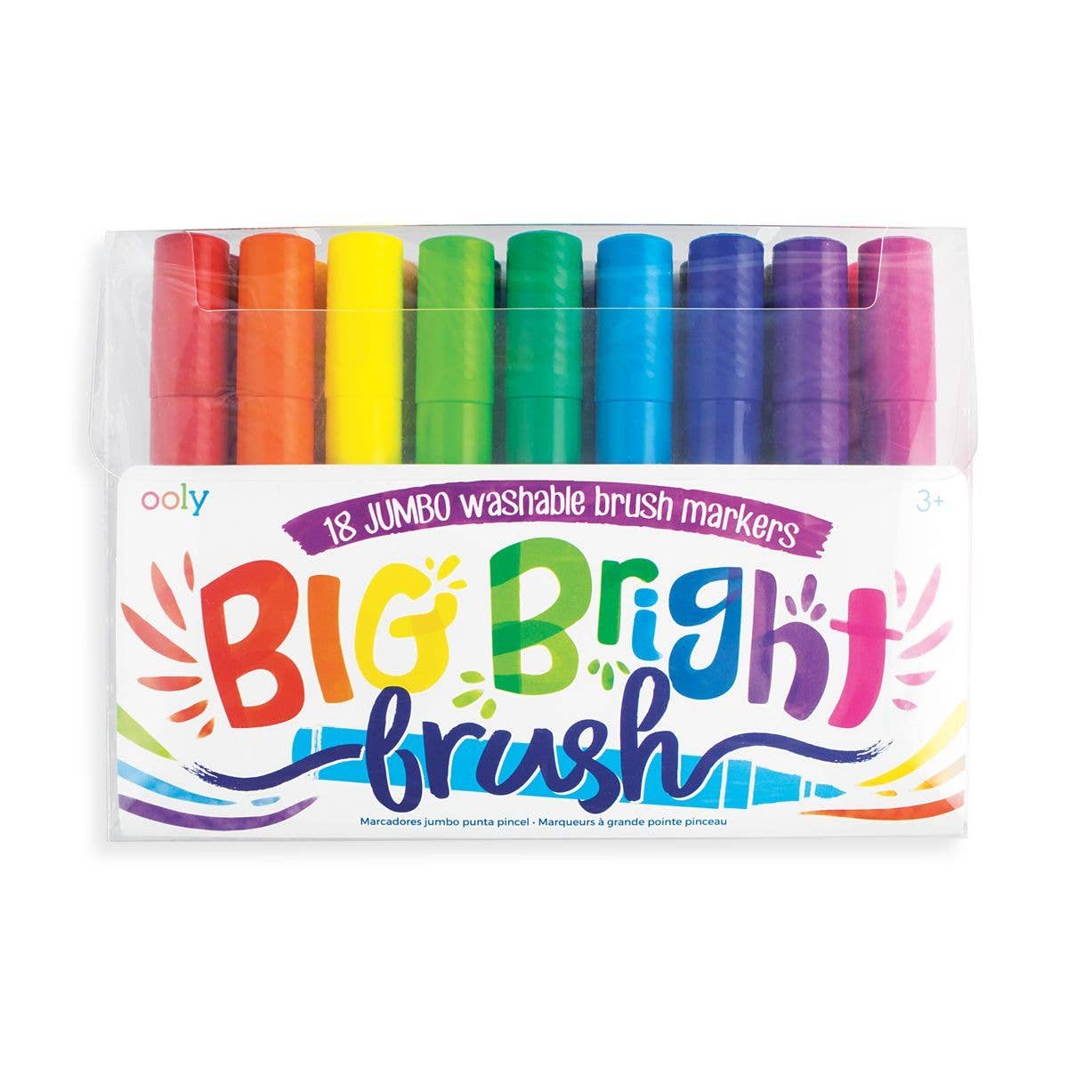 ooly Big Bright Washable Brush Markers - Set of 18