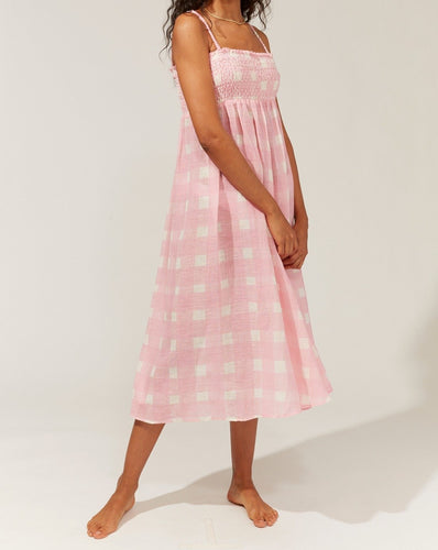 Solid & Striped Willow Cloud Pink Gingham Maxi Skirt & Dress