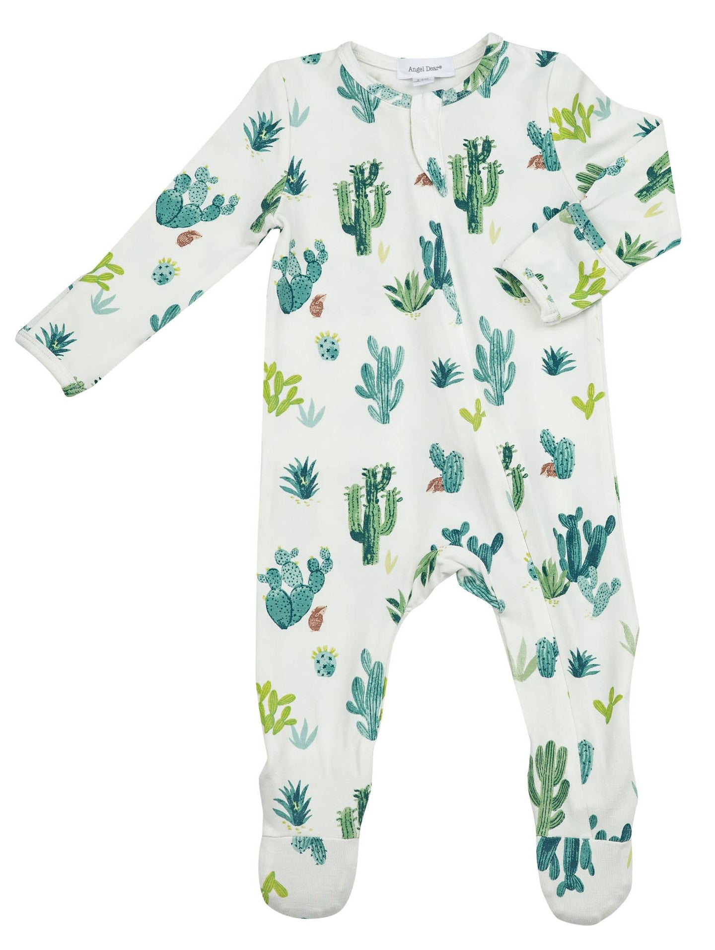 Angel Dear Cactus Ivory Zipper Footie
