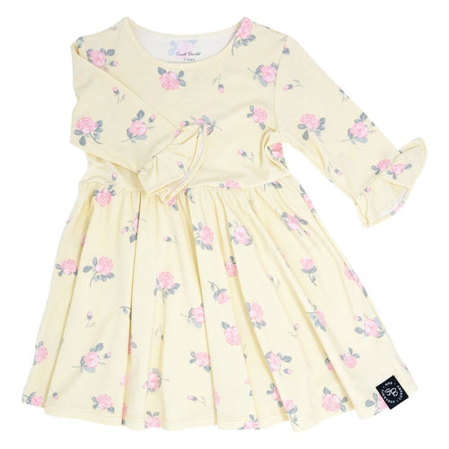 Sweet Bamboo Southern Sweetheart Yellow Roses Dress