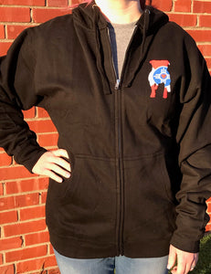 Adult Wichita Flag Zip-Up Hoodie