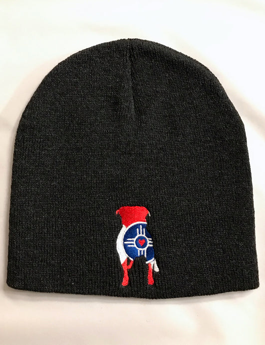 Charcoal Pitty Wichita Flag Beanie