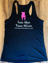 Ladies Black Nylon Kiss a Pittie Tank