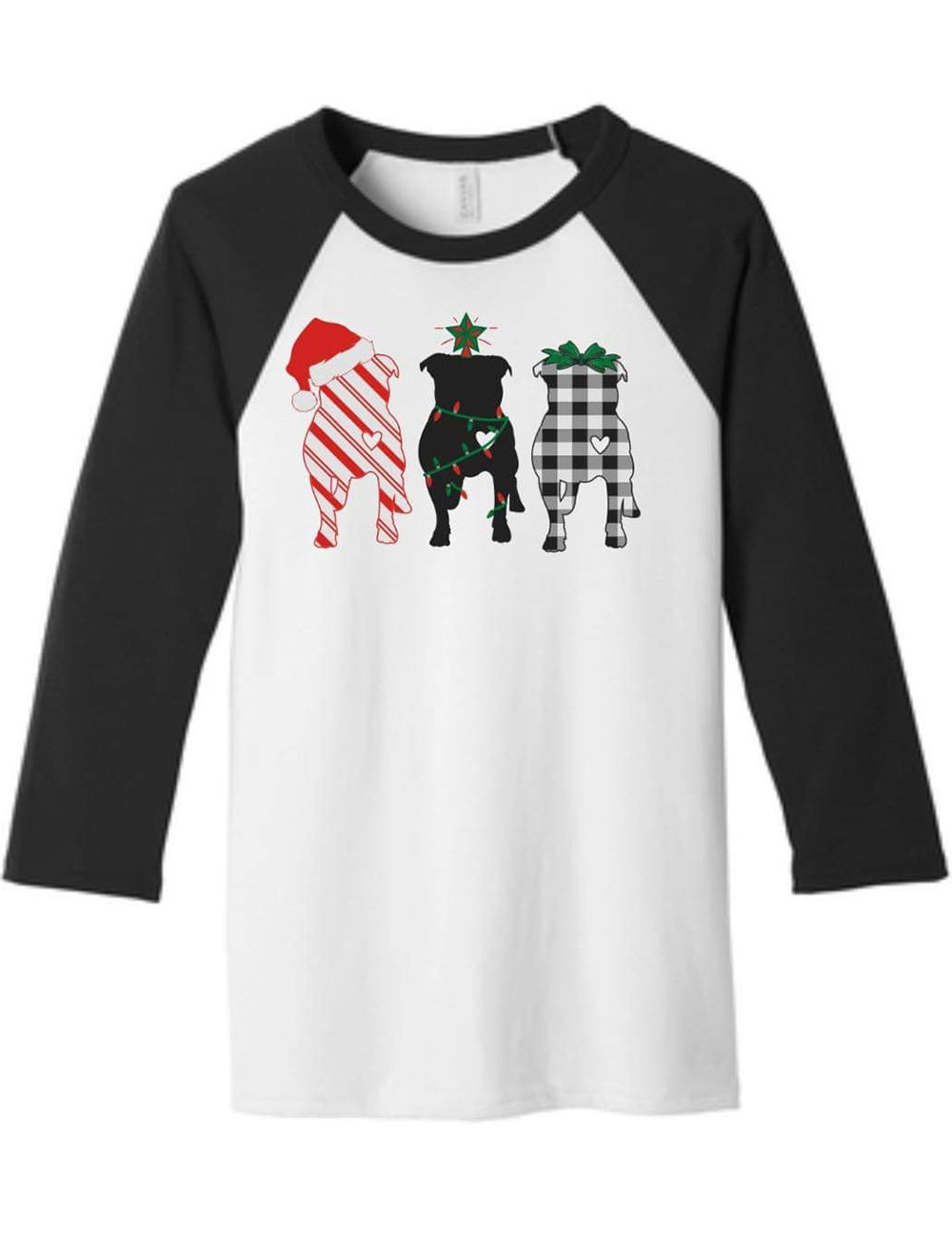 Merry Pitmas 3/4 Sleeve T-Shirt