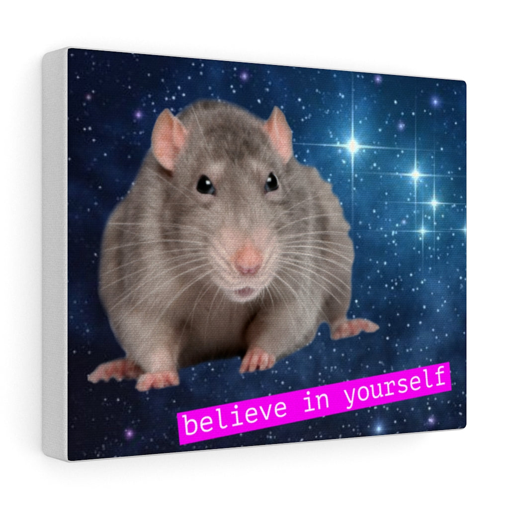 Advice Rat Canvas Portrait