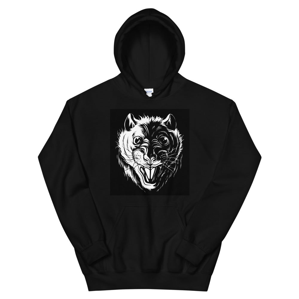 Scary Rat Face Hoodie