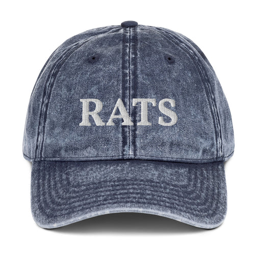 Vintage Cotton Twill Ratty Cap