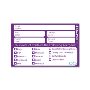 Puracycle Allergen Label, 20 Pack