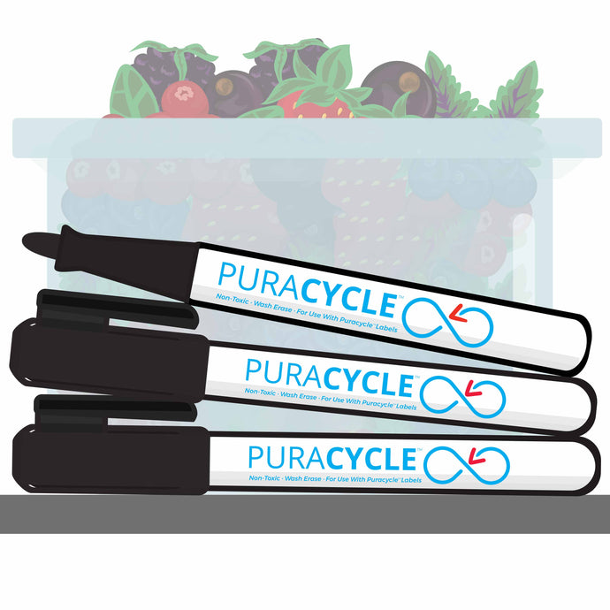 Puracycle Foodservice Markers, 3 Pack