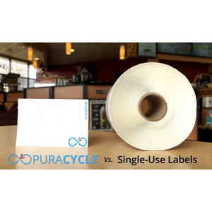 Free Puracyle Sample Pack (Limit 1 per customer), , Puracycle Shop, single-use labels, dissolvable labels, environmentally frienldy benefits of reusable labels, remarkable labels, waste, remarkable labels