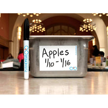 Load image into Gallery viewer, Puracycle Foodservice Markers, 3 Pack, Puracycle Shop, remarkable label, reusable label, appels, food bin, marker, permanant markers, puracycle markers, puracycle labels, dining hall