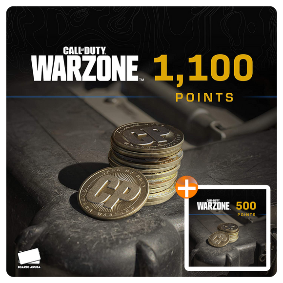 1100 COD Points Gift Card Code + BONUS 500 POINTS (US)