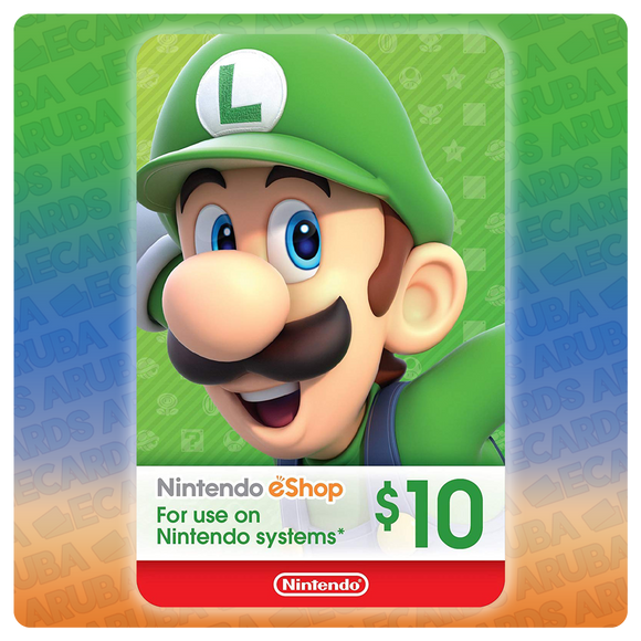 Nintendo eShop $10 Gift Card Codes (US) - eCards Aruba