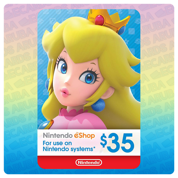 Nintendo eShop $35 Gift Card Codes (US) - eCards Aruba
