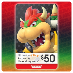 Nintendo eShop $50 Gift Card Codes (US) - eCards Aruba