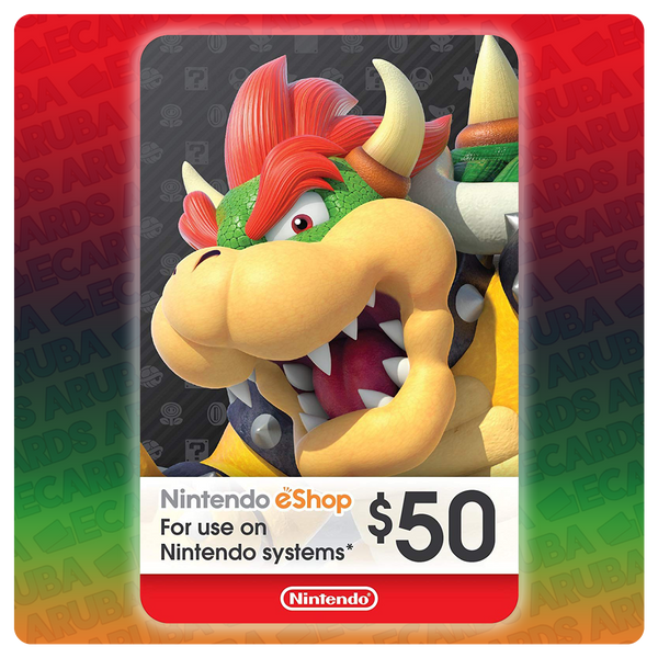 Nintendo eShop $50 Gift Card Codes (US)