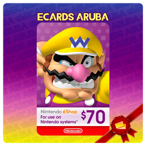 Nintendo eShop $70 Gift Card Codes (US) - eCards Aruba