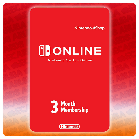 Nintendo Online 3 Months Subscription Gift Card Codes (US) - eCards Aruba