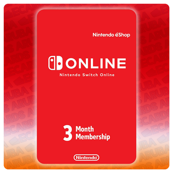 Nintendo Online 3 Months Subscription Gift Card Codes (US)