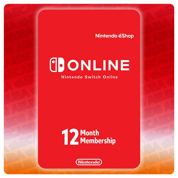 Nintendo Online 12 Months Subscription Gift Card Codes (US) - eCards Aruba