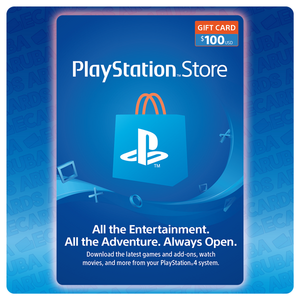 PlayStation Network $100 Gift Card Codes (US) - eCards Aruba