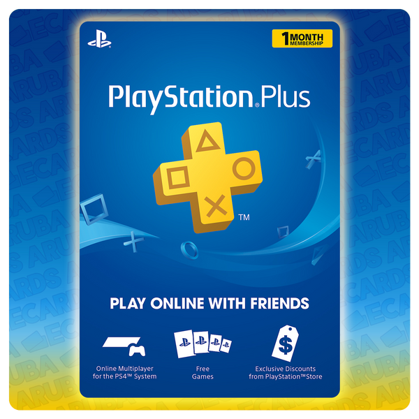 PlayStation PLUS 1 Month Gift Card Codes (US) - eCards Aruba