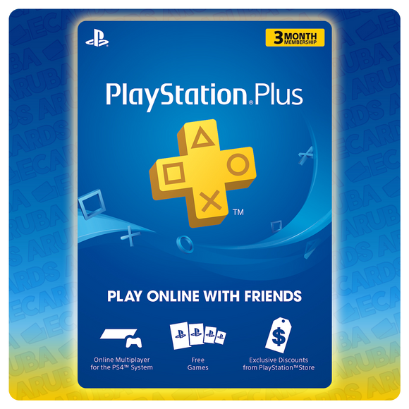 PlayStation PLUS 3 Months Gift Card Codes (US) - eCards Aruba