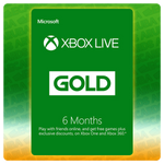 Xbox Live Gold 6 Months Gift Card Codes (US)