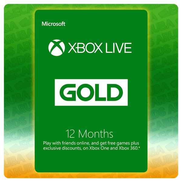 Xbox Live Gold 12 Months Gift Card Codes (US)