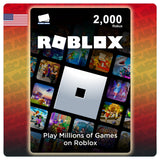 ROBLOX 2000 ROBUX Gift Card (USA)