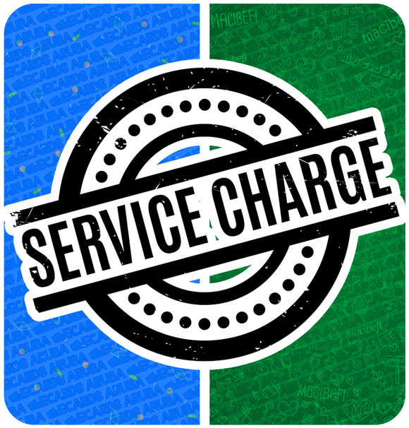 Service Charge (Only when ordered via WhatsApp or Facebook) - eCards Aruba
