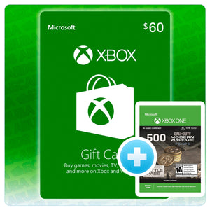Xbox $60 Gift Card Code + BONUS 500 COD POINTS (US)