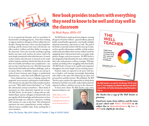 The Well Teacher featured in NSTU The Teacher, May 2019 Issue