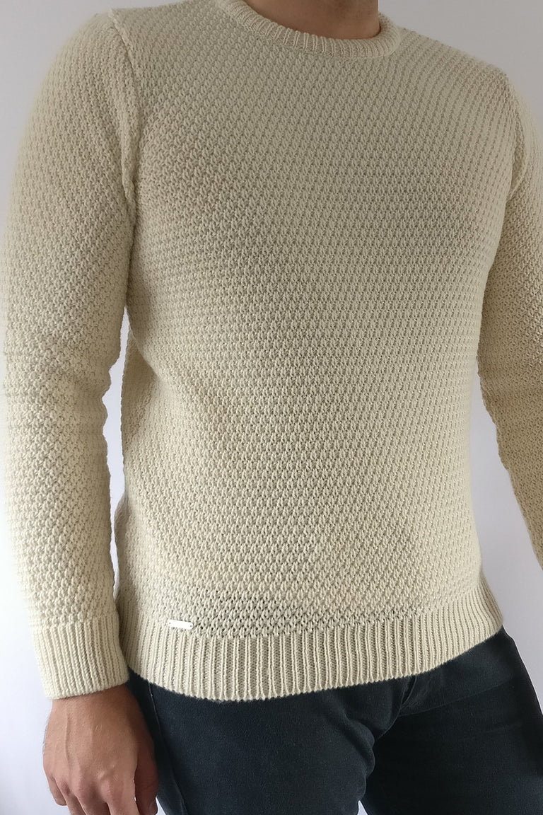 RAVEN ROCK Merino moss stitch jumper