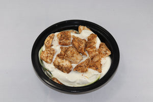 "LOW CARB - ""Pasta"" w/ Blackened Chicken and Low-Fat Alfredo Cream Sauce"