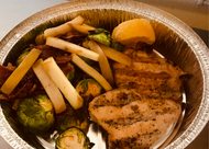 Grilled Chicken w/ Apple Sprout Skillet - The Next56Days Approved